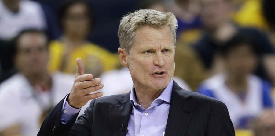 Kerr tiene marca de 265-63 (.808) con los Warriors. (AP) (horizontal-x3)