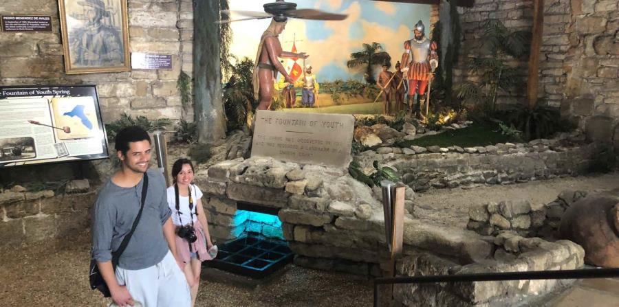 En San Agustín ubica el Parque de la Fuente de la Juventud,  considerada la atracción turística más antigua de la Florida. (Gregorio Mayí/Especial para GFR Media)