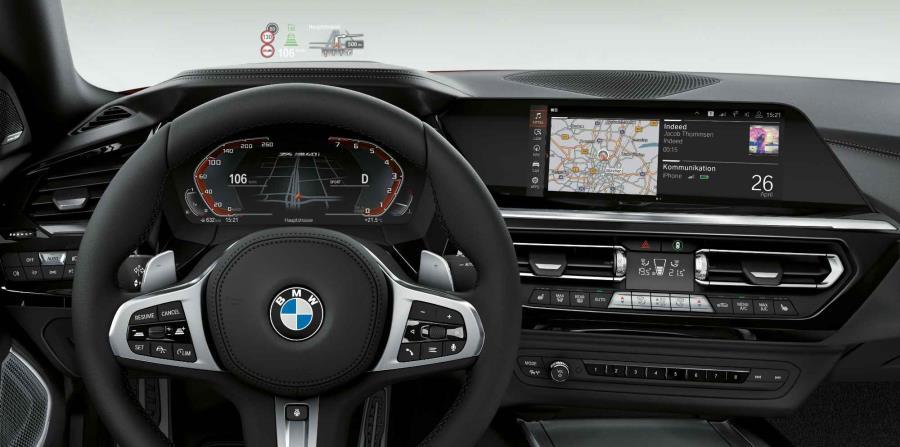 Cabina interior del nuevo BMW Z4.