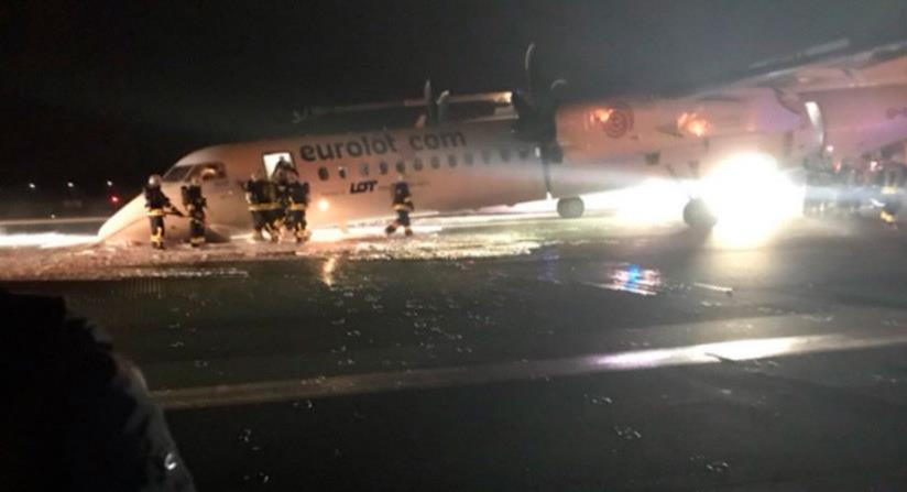 Avión se estrella al aterrizar en un aeropuerto de Varsovia