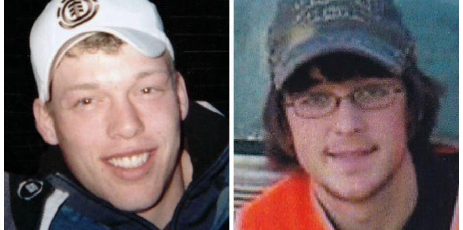 Foto de Andy Sandness (izq.) antes de recibir el trasplante del rostro de Calen Ross (der.). (Cortesía de Andy Sandness y Lilly Ross / AP)
