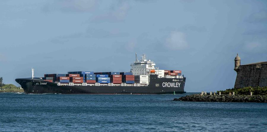 Under the Jones Act, cargo transportation between the United States and Puerto Rico has to be done on US license plates, property and crew. (horizontal-x3)
