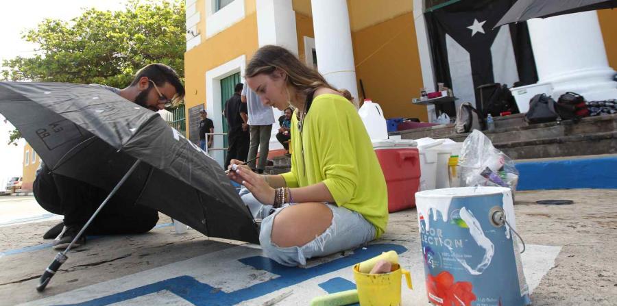 La huelga en la Escuela de Artes Plásticas comenzó el pasado 2 de mayo. (horizontal-x3)