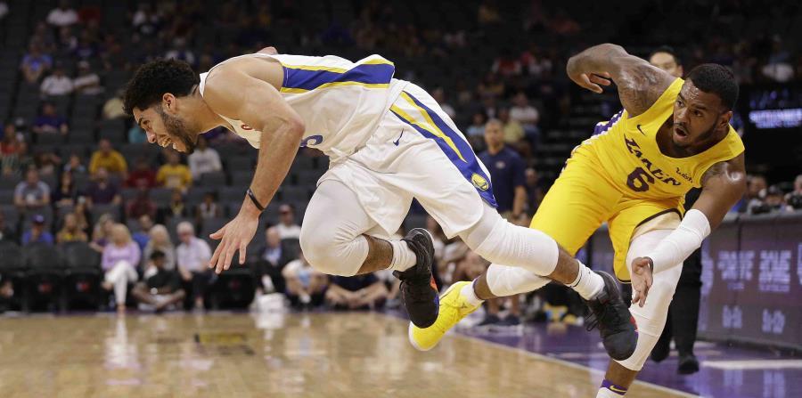 Jordan Howard, a la izquierda, busca un contrato con los Warriors en la liga de verano. (AP) (horizontal-x3)