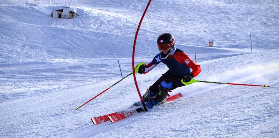 Charles Flaherty tiene la clasificación en los eventos de slalom y giant slalom para la Olimpiada de  PyeongChang, Corea del Sur. (Suministrada) (horizontal-x3)