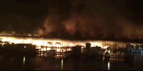 Ocho muertos tras incendio en embarcadero en Alabama