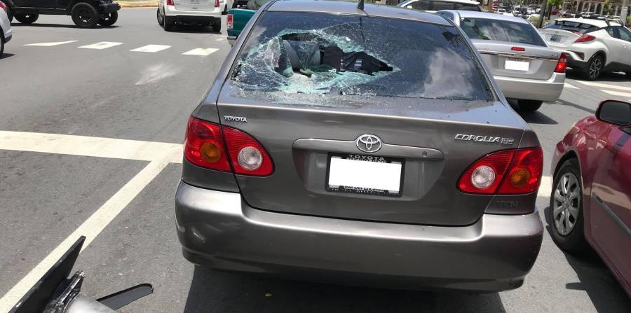 Imagen del auto perjudicado en Dorado. (horizontal-x3)