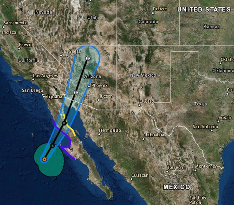 Trayectoria trazada por el Centro Nacional de Huracanes de la tormenta tropical Rosa. (Captura / NOAA) (semisquare-x3)