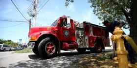 Reportan un incendio en un restaurante en Condado