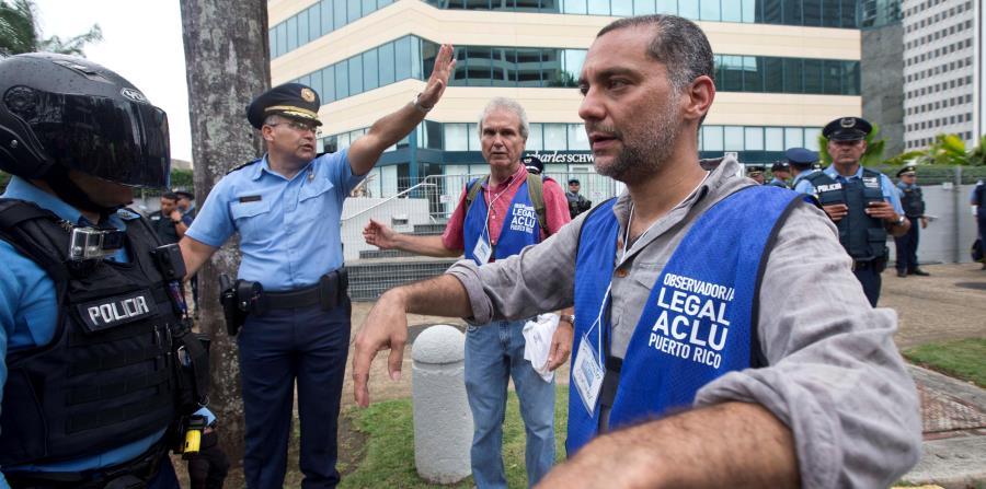 Según el director de la ACLU, los observadores de la entidad fueron colocados en situaciones de peligro por la Policía el pasado 1 de mayo. (GFR Media) (horizontal-x3)