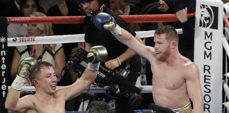 La primera pelea entre Gennady Golovkin (izquierda) y Canelo Álvarez fue declarada empate. (horizontal-x3)