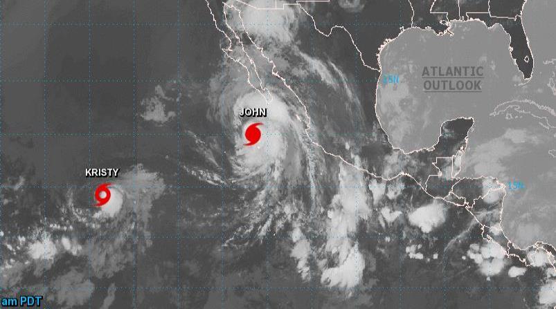 El huracán John se intensifica, absorbe al ciclón Ileana y causarán tormentas