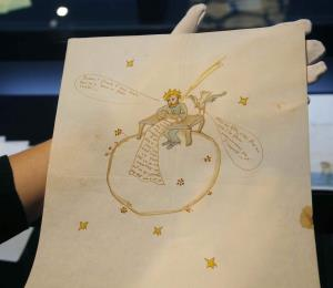 Subastan una carta de amor ilustrada del autor del Principito