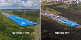 FEMA explica por qué permanecen las botellas de agua en el aeropuerto en Ceiba