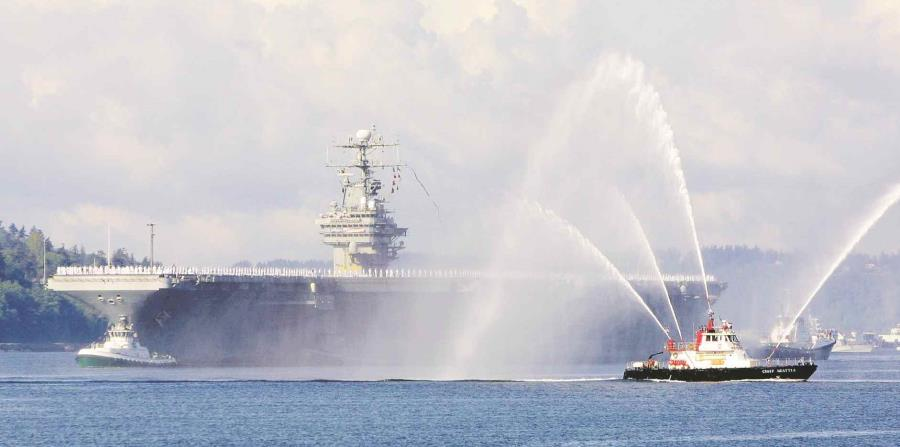 Un total de 145 demócratas –incluidos los boricuas Nydia Velázquez, José Serrano, Luis Gutiérrez y Darren Soto–, demandaron más apoyo del Pentágono, como  el envío del portaaviones USS Lincoln. (AP) (horizontal-x3)