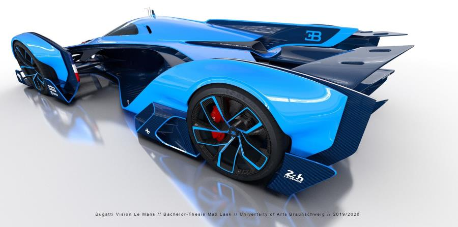 La propulsión del Bugatti Vision Le Mans es a través de un motor a base de iones. (Suministrada)