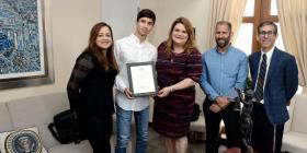 El estudiante Bryan García ganó la competición tecnológica del Congreso en Puerto Rico