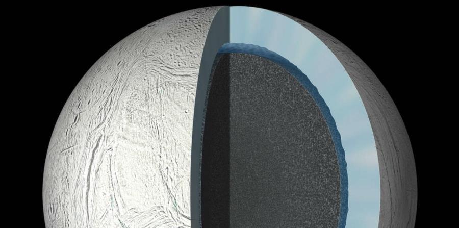 Encélado es el único cuerpo aparte de la Tierra en el que ahora se sabe que satisface simultáneamente todos los requisitos básicos para la vida (horizontal-x3)