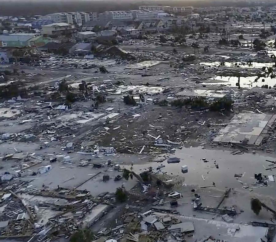 Los daños causados por el huracán Michael en Mexico Beach, Florida. (semisquare-x3)