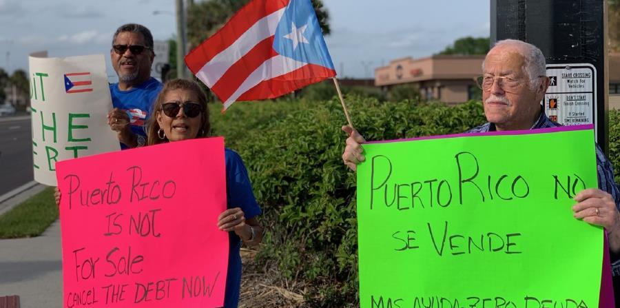Las protestas fueron protagonizadas por miembros de organizaciones como el Center for Popular Democracy, Organize Florida, VAMOS4PR, Diáspora en Resistencia, entre otros. (Suministrada) (horizontal-x3)