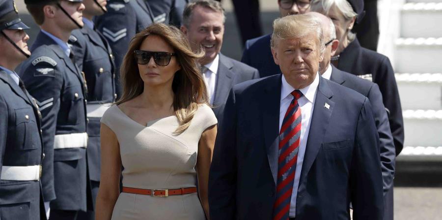 Trump se encuentra actualmente en Reino Unido, junto a la primera dama, Melania Trump. (AP) (horizontal-x3)