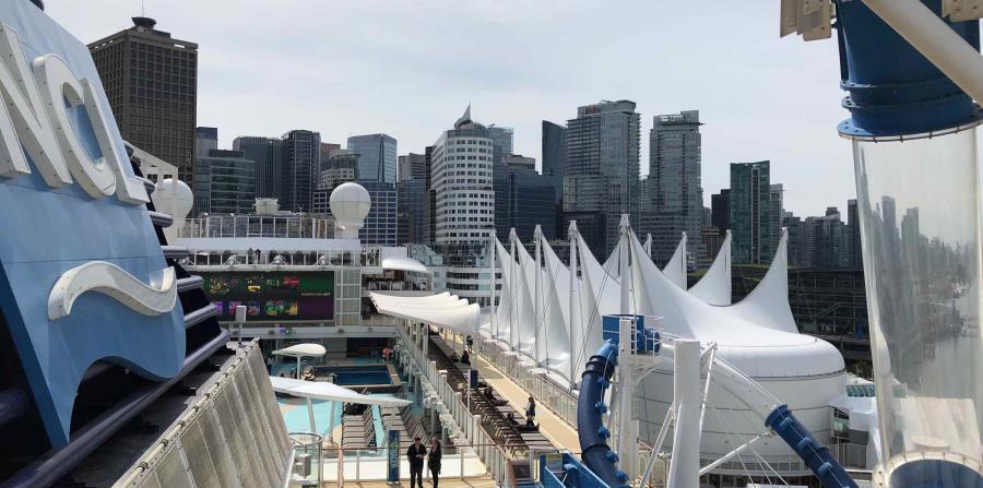 Norwegian Joy en Vancouver. (Gregorio Mayi/Especial para GFR Media)