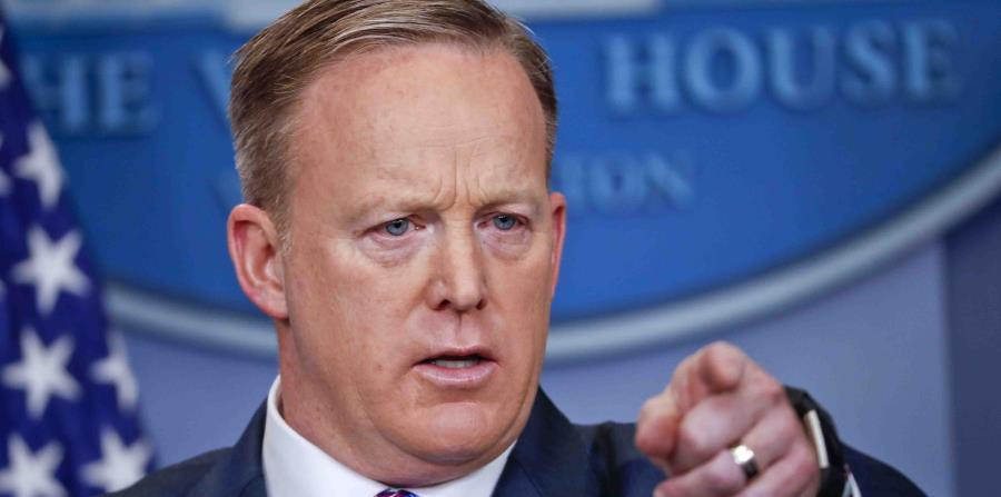 Sean Spicer, portavoz de la Casa Blanca (horizontal-x3)