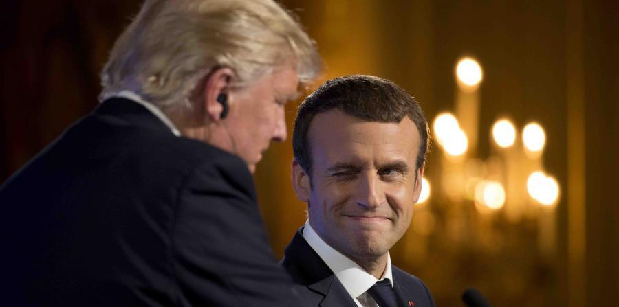 Macron admitió que la visita de Trump a París fue diseñada para dar a los estadounidenses
