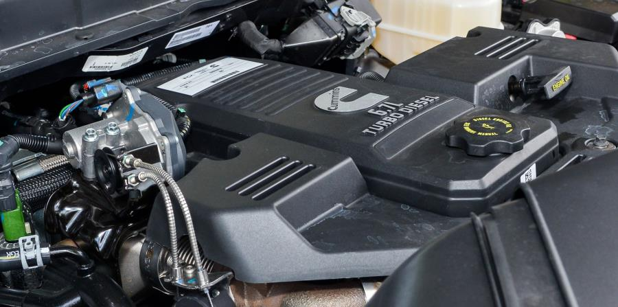 Motor Cummins Turbo Diesel, de 6.7 litros. (Enid M. Salgado / Especial para GFR Media)