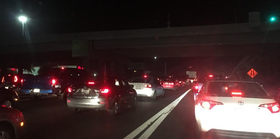 Los trabajos que generan una gran congestión de tránsito en la autopista José de Diego inician a la altura del kilómetro 3.3. (horizontal-x3)