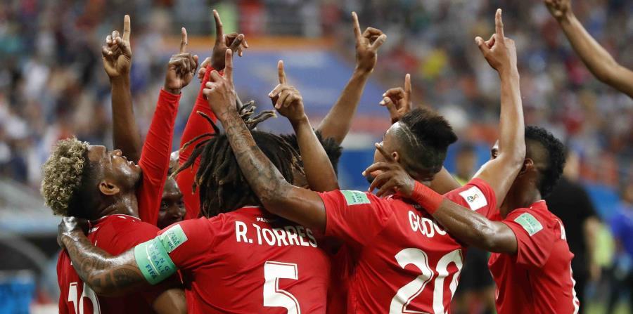 Panamá celebró el autogol de Yassine Meriah. (AP) (horizontal-x3)