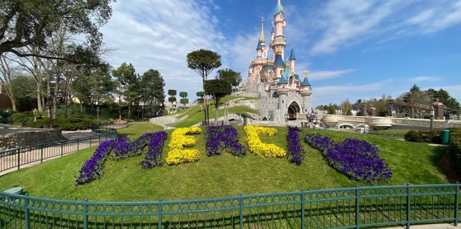Decorado en el jardín del Disneyland Paris. (Suministrada)