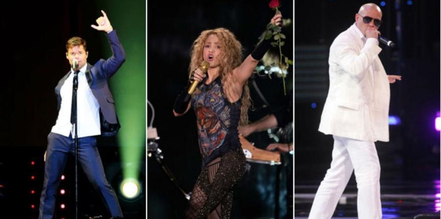 Ricky Martin, Shakira y Pitbull en el Mundial de fútbol (horizontal-x3)