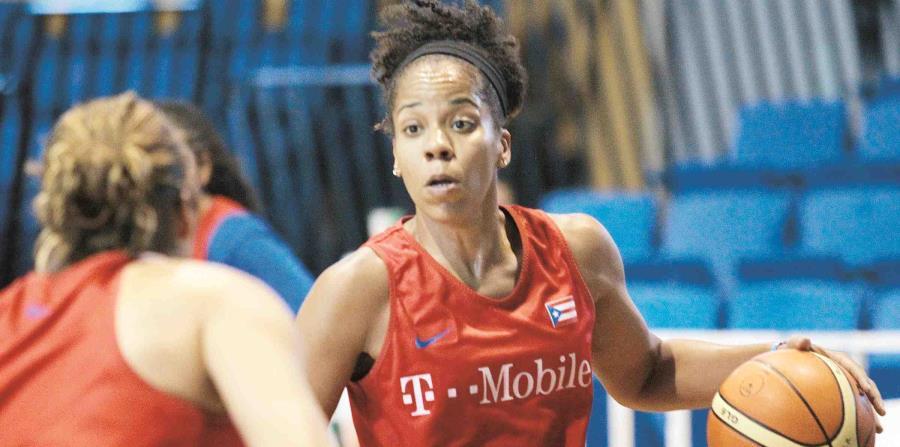 En la foto,  Mari Plácido, integrante de la selección puertorriqueña de baloncesto. (GFR Media) (horizontal-x3)