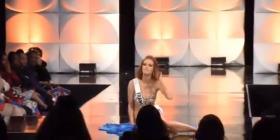 Representantes de Francia y Malasia se caen durante el certamen preliminar de Miss Universe