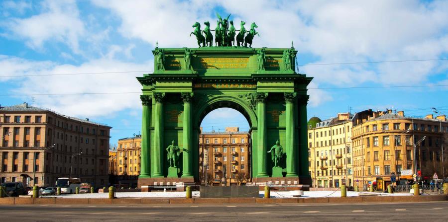 Puerta Triunfal de Narva. (Suministrada)
