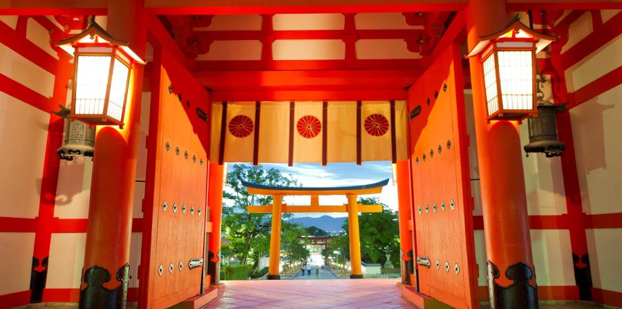 Vista de la puerta del Santuario de Fushimi Inari, en Kioto, Japón. (EFE/EPA/EVERETT KENNEDY BROWN)