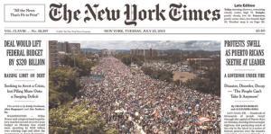 La indignación de Puerto Rico recorrió el mundo
