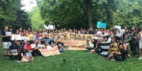 Boricuas en Madrid reclaman la renuncia de Rosselló