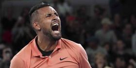 El tenista Nick Kyrgios se burla de Rafal Nadal en el Abierto de Australia