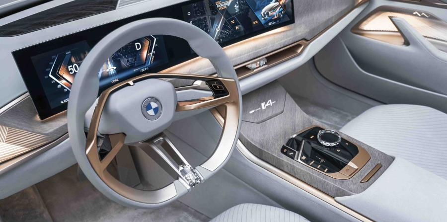 Cabina interior del BMW i4 Concept. (Suministrada)