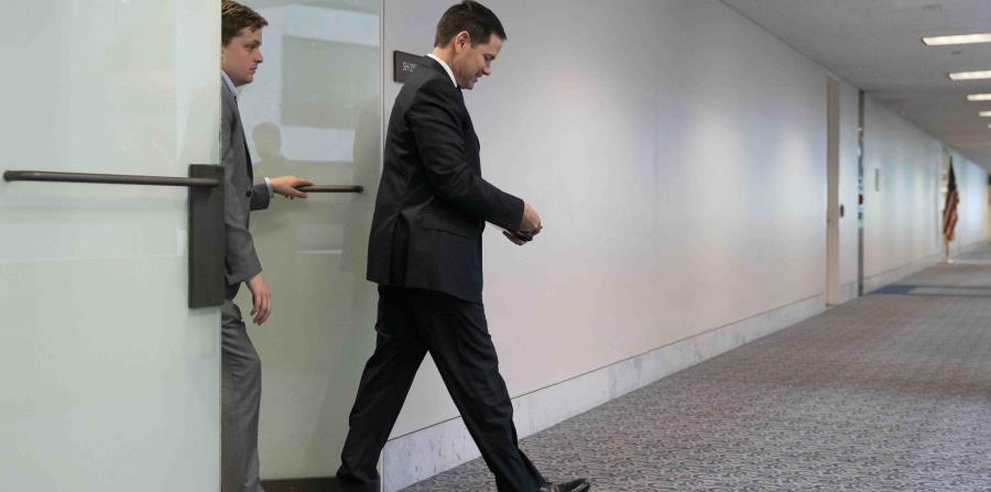 """El republicano Marco Rubio indicó el viernes que los negociadores hacen """"lentos pero constantes progresos"""". (AP) (horizontal-x3)"""
