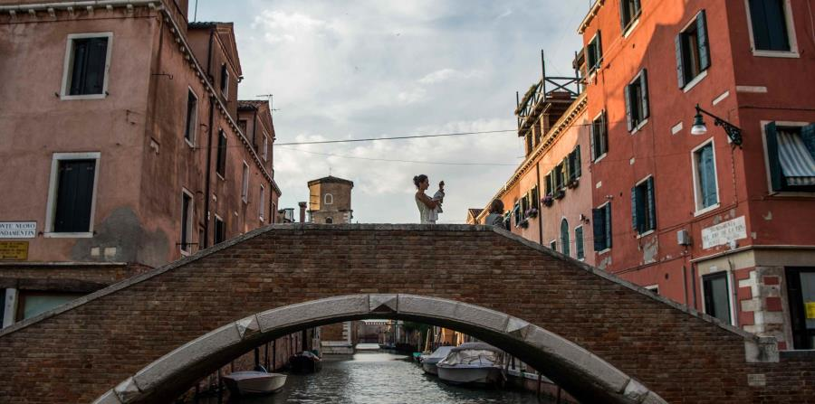 Bonito paisaje veneciano desde una góndola. (Miguel D. Segura)