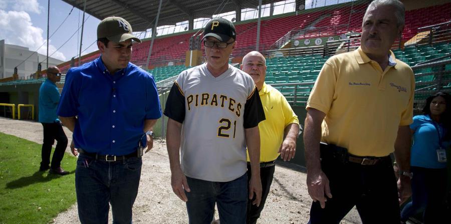 De izquierda a derecha: gobernador Ricardo Roselló, el alcalde de Cayey Rolando Ortiz Velazquez, el presidente de la Cámara Johnny Méndez y el presidente del Senado Thomas Rivera Schatz. (horizontal-x3)