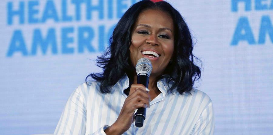 Michelle Obama habla durante un evento en Washington. (horizontal-x3)