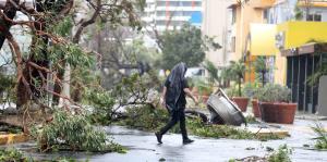 Condado y Santurce, doblegados por los vientos del huracán María