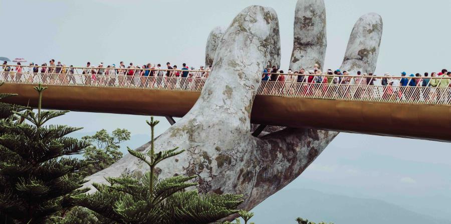 Golden Bridge en Da Nang, Vietnam. (Unsplash)