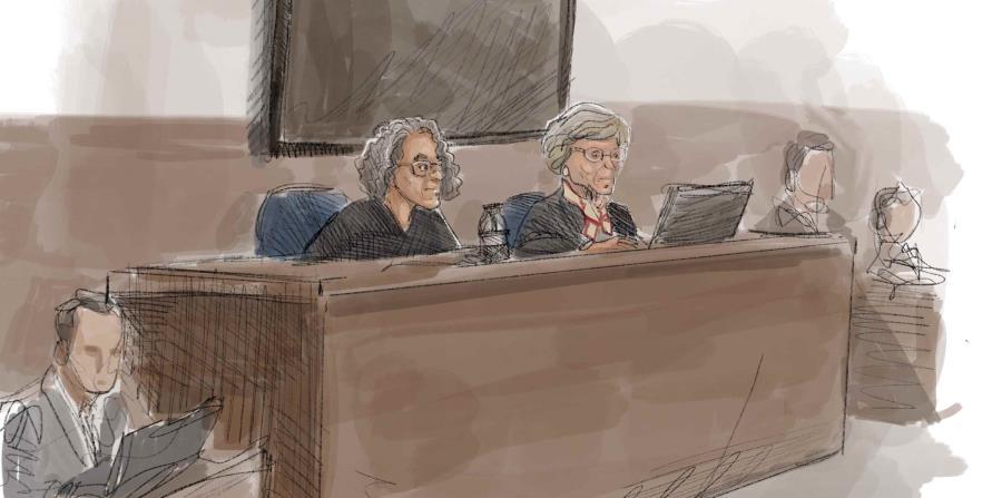 La magistrada federal Judith Gail Dein, a la izquierda, atenderá las argumentaciones orales sobre la pesquisa de la deuda  desde su sala judicial en la ciudad de Boston. (horizontal-x3)