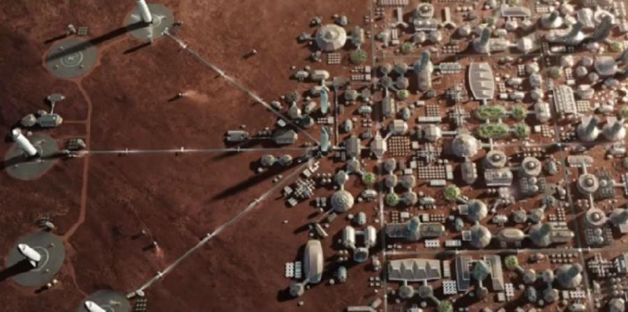 SpaceX muestra cómo podría desarrollarse un primer sistema de edificaciones en Marte (horizontal-x3)