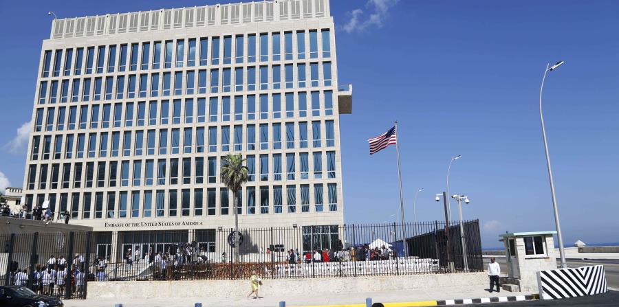 Esta foto de archivo del 14 de agosto de 2015 muestra la embajada de Estados Unidos en La Habana (horizontal-x3)